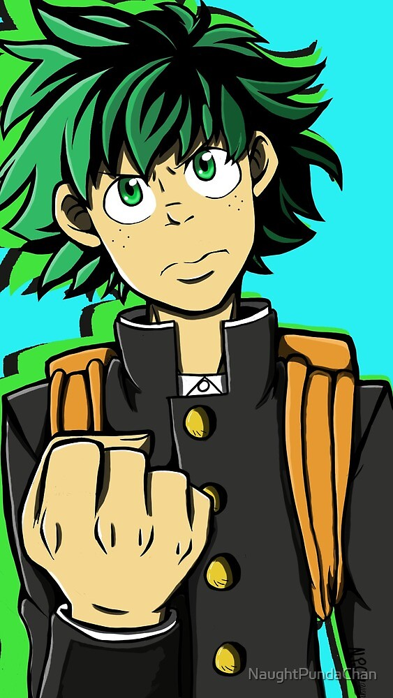 Determined Deku  by NaughtPundaChan