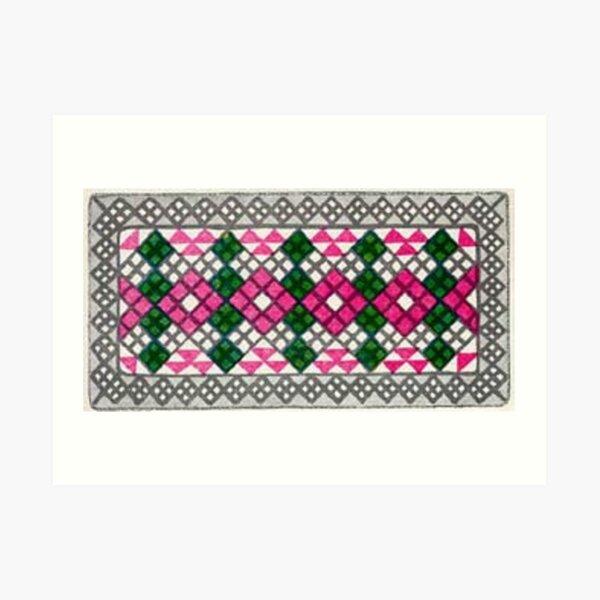 #Ковровый #узор #балкарского #карачаевского #войлочного #ковра #Carpet #pattern of a #Balkarian & #Karachay #felt #carpet #Ковровыйузор #CarpetPattern #таулу #tawlu #mountaineer #таулула #tawlula Art Print
