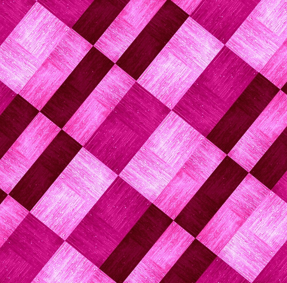 Pink Variations Gingham Pattern by CatherineKlein