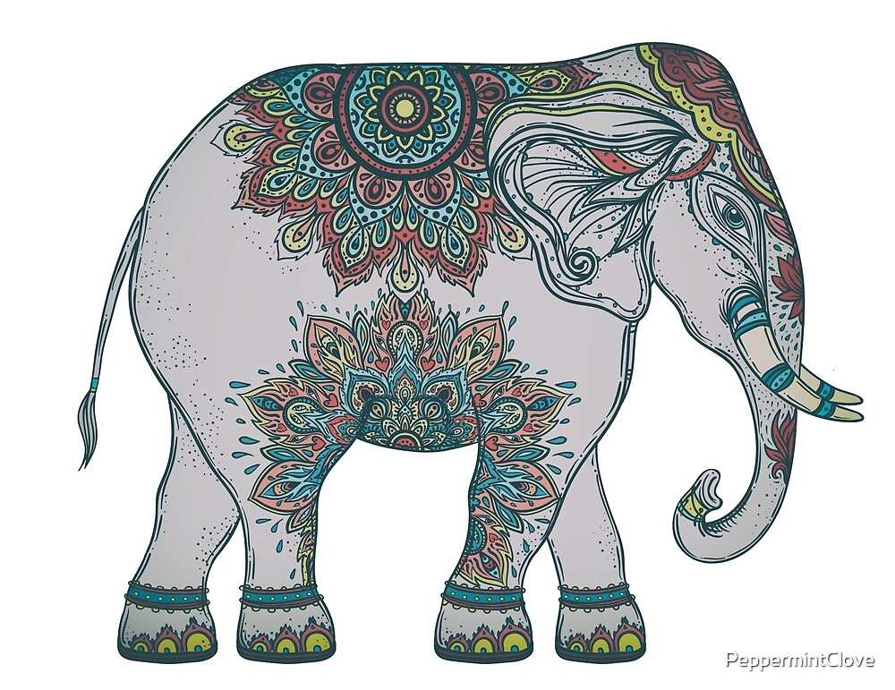 Indian Painted Sacred Elephant by PeppermintClove
