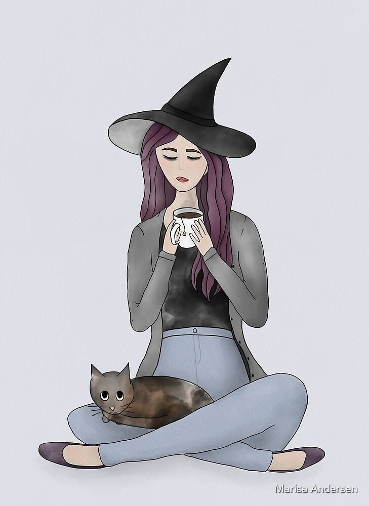 Tea Witch in Color by Marisa Andersen