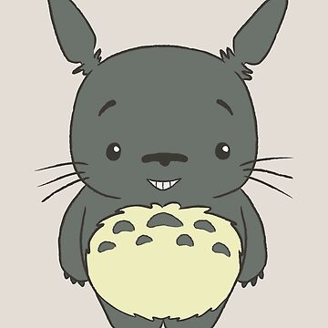 Cute little Totoro Smile by telurico