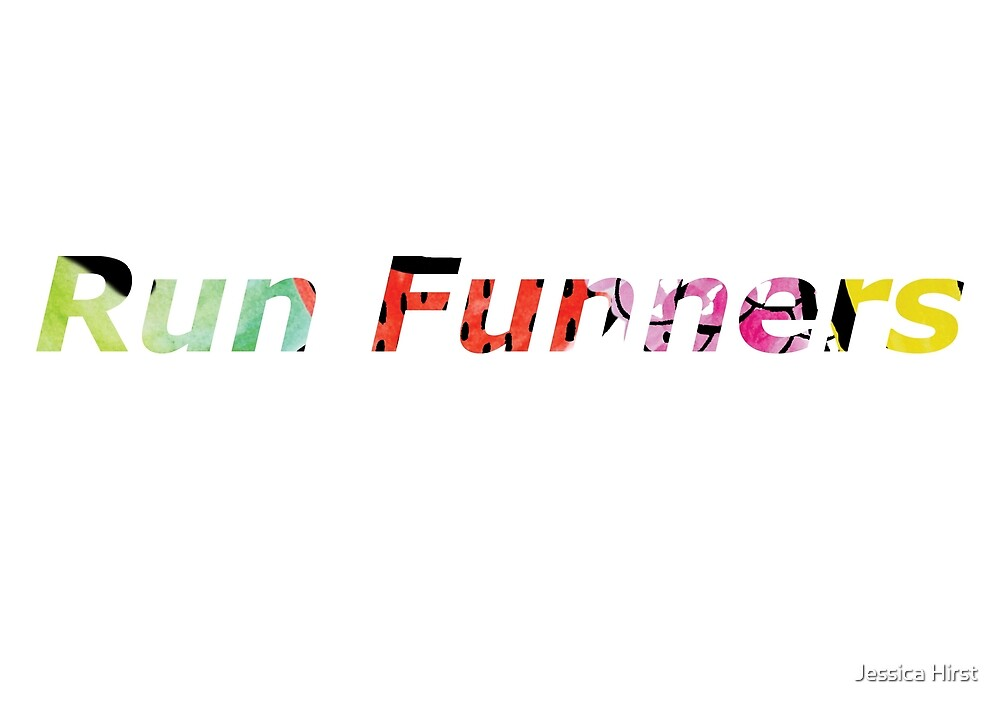 Run Funners Text Logo by Jessica Hirst