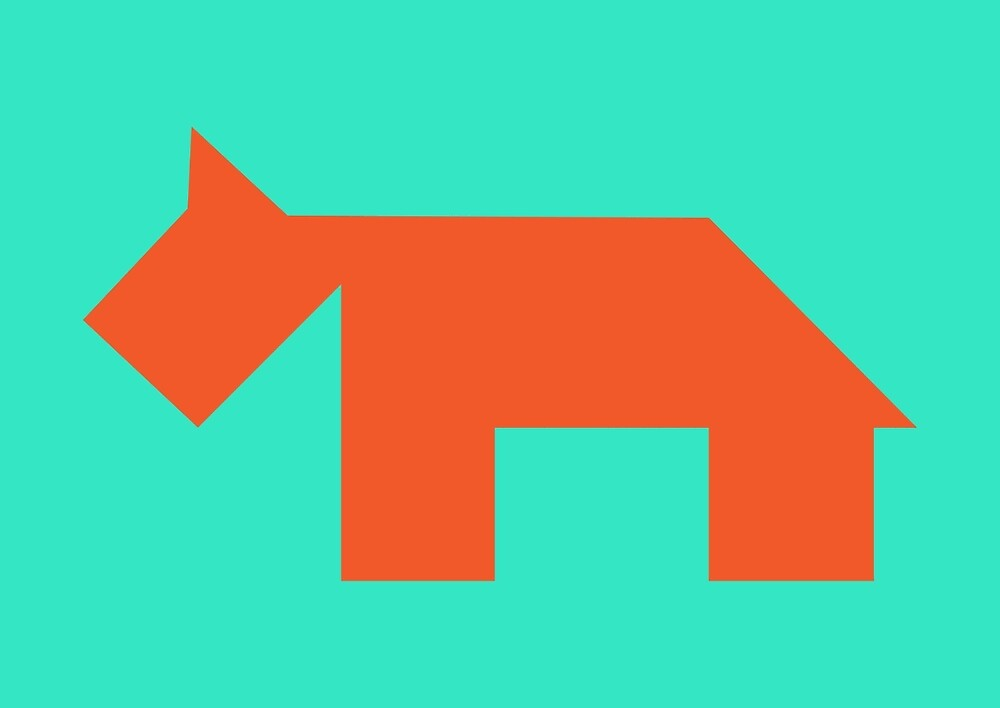Orange dog Tangram by namormai