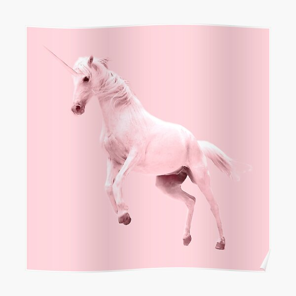 Pink Unicorn by Alice Monber Poster