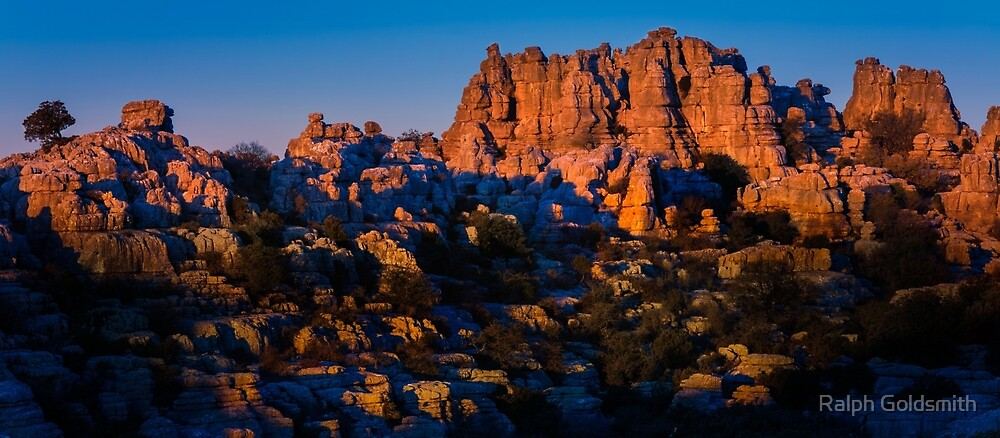 Morning light on Torcal de Antequera by Ralph Goldsmith
