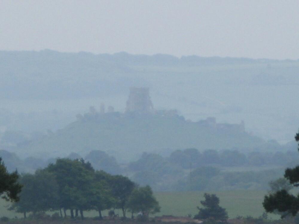 Mist over Corfe Castle, Dorset by richalfa156