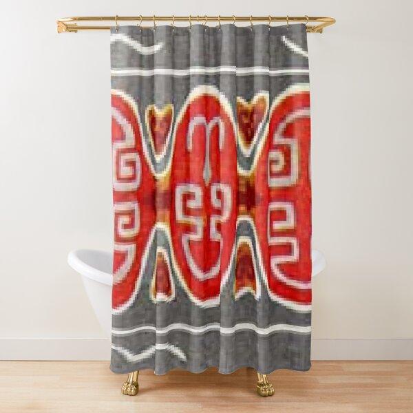 #Ковровый #узор #балкарского #карачаевского #войлочного #ковра #Carpet #pattern of a #Balkarian & #Karachay #felt #carpet #Ковровыйузор #CarpetPattern #таулу #tawlu #mountaineer #таулула #tawlula Shower Curtain