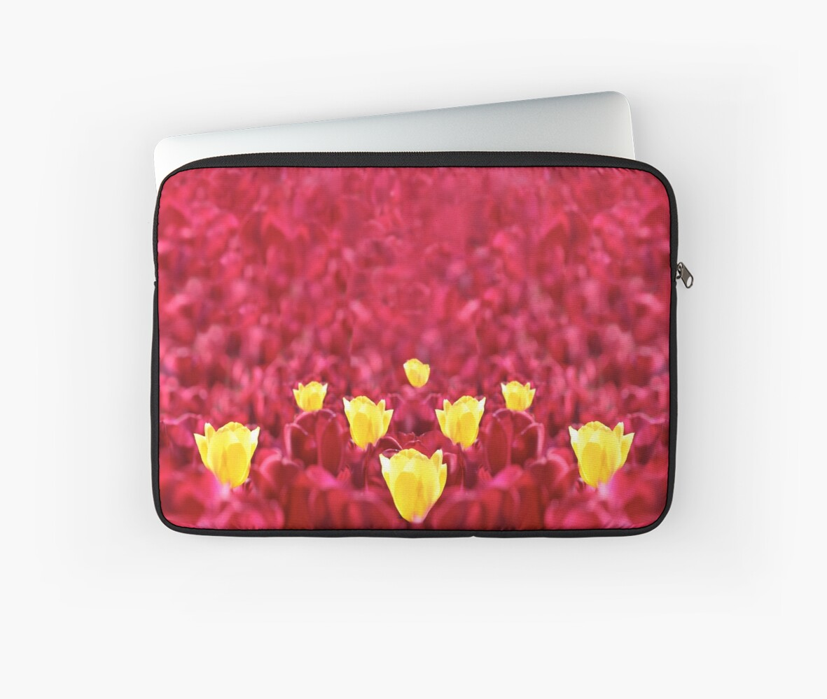 Floriade - Yellow Tulips with red Tulips by EndoWomanArt