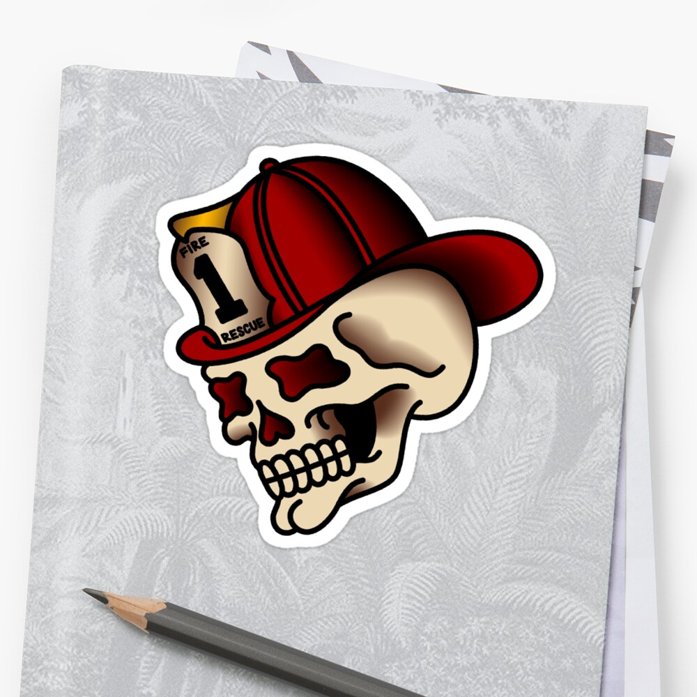 Traditional Firefighter Skull by salty-dog