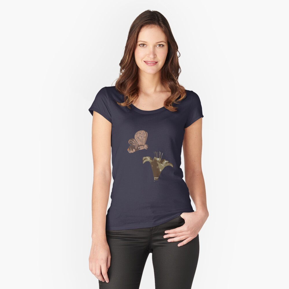 Pollination or Story of life Women's Fitted Scoop T-Shirt Front