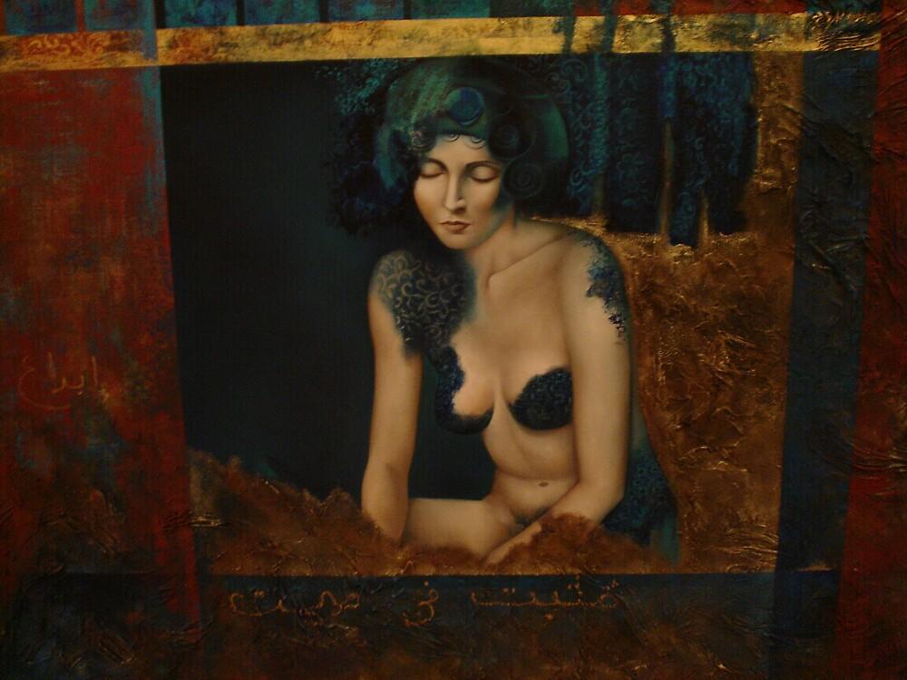 Woman in blue. by Rob van Hooff