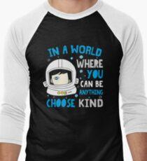 Trending Choose Kind Anti Bullying Helmet T-Shirt Shirt Men's Baseball ¾ T-Shirt