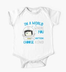 Trending Choose Kind Anti Bullying Helmet T-Shirt Shirt One Piece - Short Sleeve