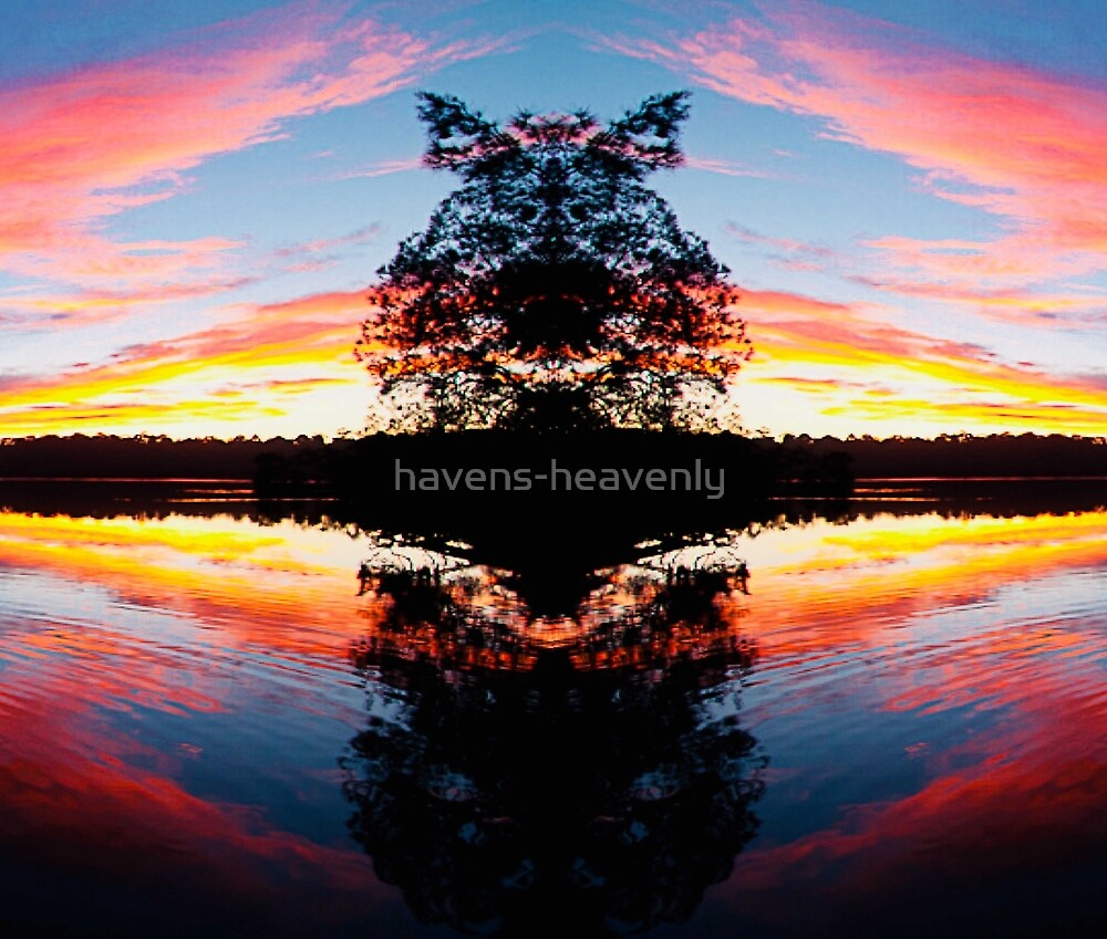 Custom Artwork Colorful Reflections Sunset One by havens-heavenly