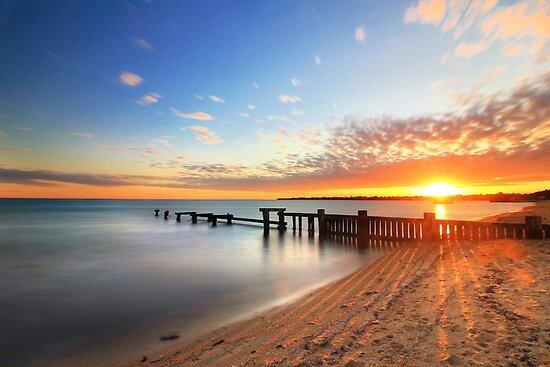 Mentone Beach, Victoria, Australia.  by Flabnbone