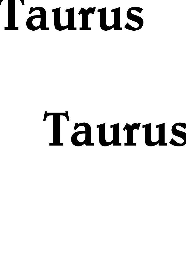 Taurus by WordWrap
