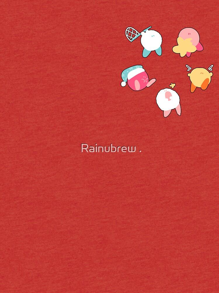 Kawaii Cute Kirby Stickers by Rainbronii