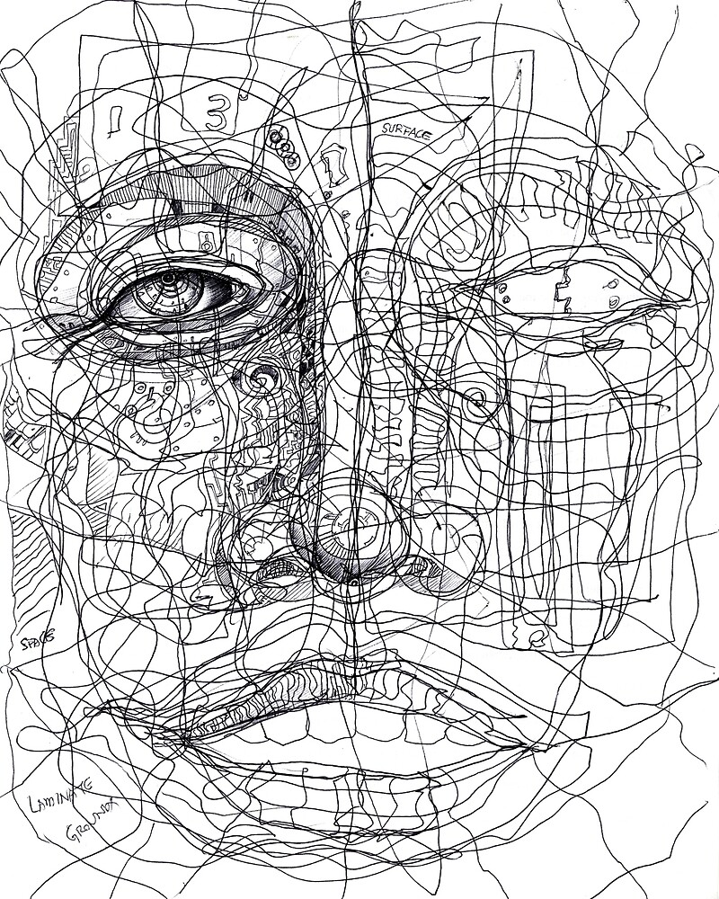 Face of Lines, Mindless or Madness by E Lynx