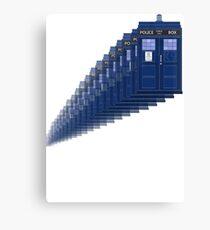 Dr Who Time Travel Tardis Canvas Print