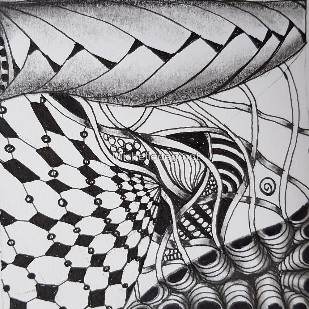 Zentangle 1 by Michelledegroot