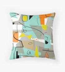 Mid-Century Modern Abstract Art  Throw Pillow