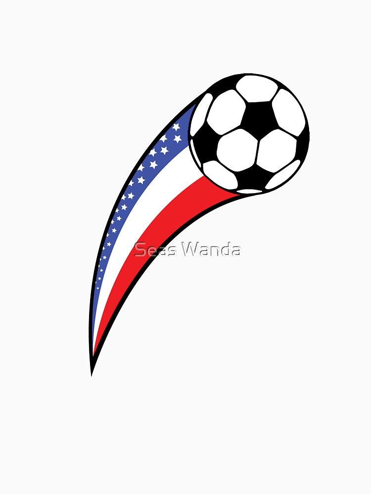 USA American Flag Soccer Player Team Gifts by macshoptee
