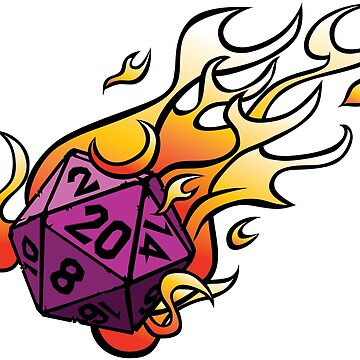 D20 flame dice by GrimsD20s