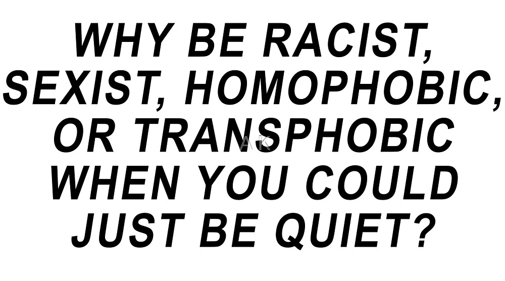 frank ocean why be racist shirt by A K