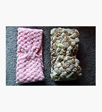 Hand Knitted Head Bands Photographic Print