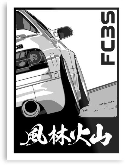 Rx7 Fc3s Furinkazan Metal Print By Pixelrandom
