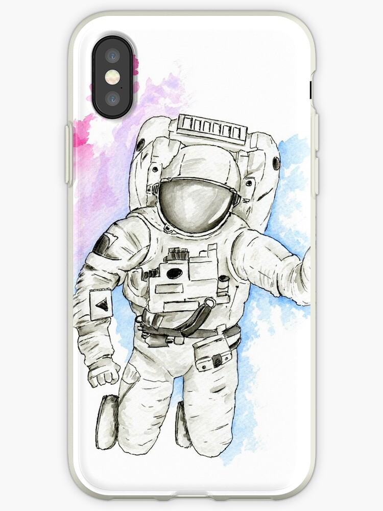 Astronaut in Watercolour Nebula by jamessewellart
