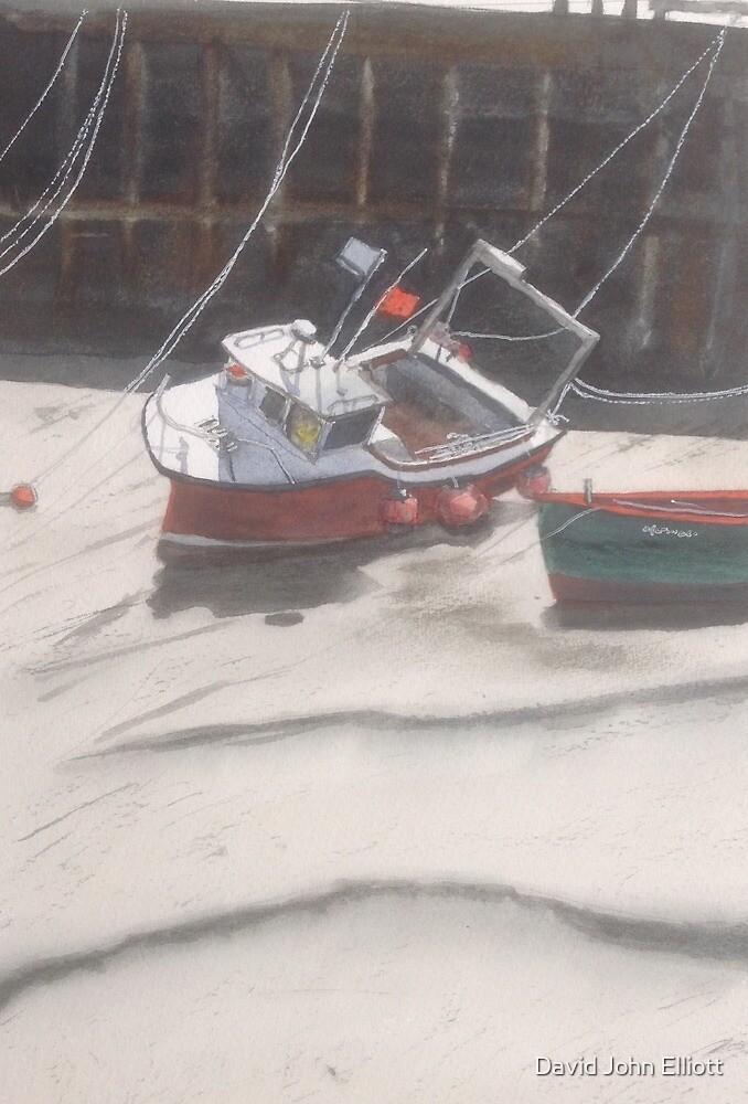 Low tide Bridlington by David John Elliott