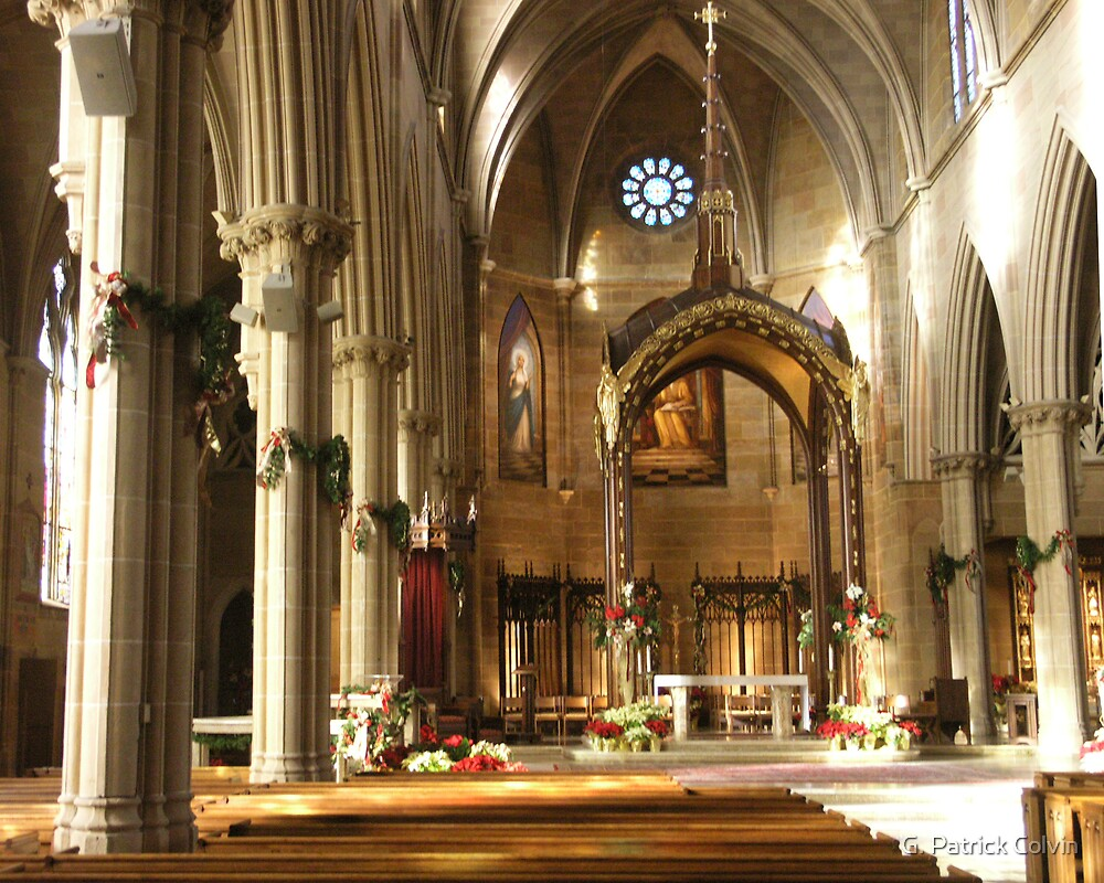 St. John's Cathedral: Christmas decorations by Gregory Colvin