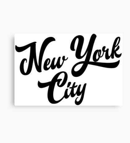New York City Handwritting Canvas Print