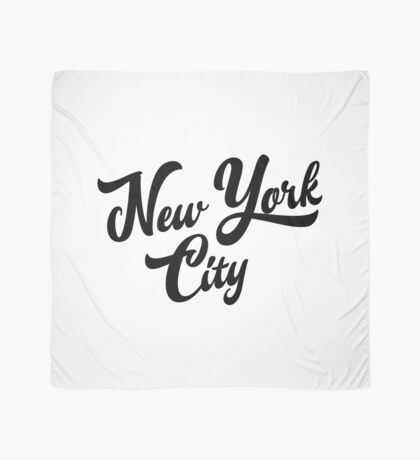 New York City Handwritting Scarf
