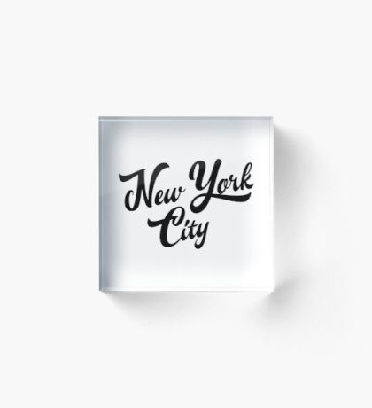 New York City Handwritting Acrylic Block
