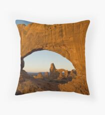 Turret through North Window Throw Pillow