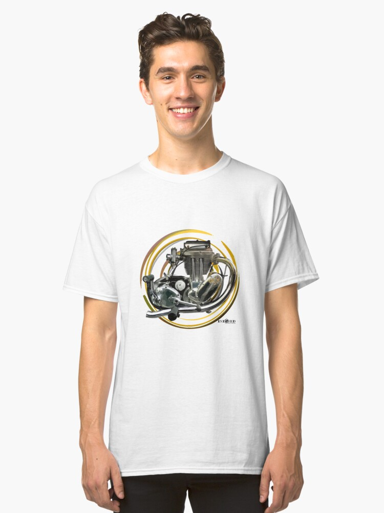 Inished A.J.S. Trials engine art Classic T-Shirt Front