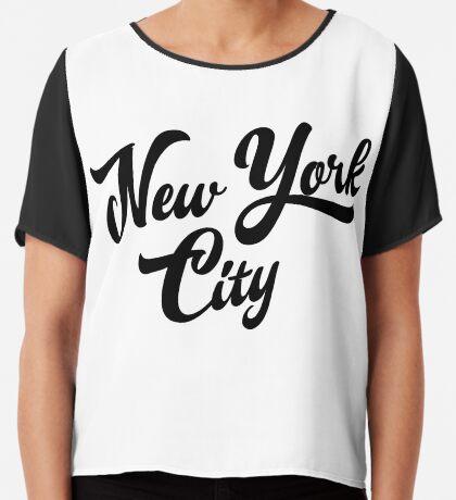 New York City Handwritting Chiffon Top