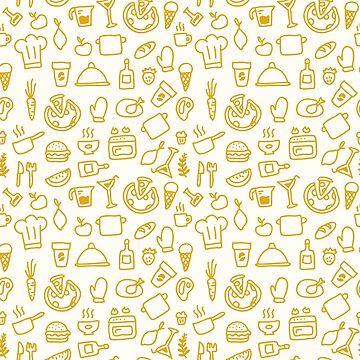Food Drawings Cute Pattern by deheleisa