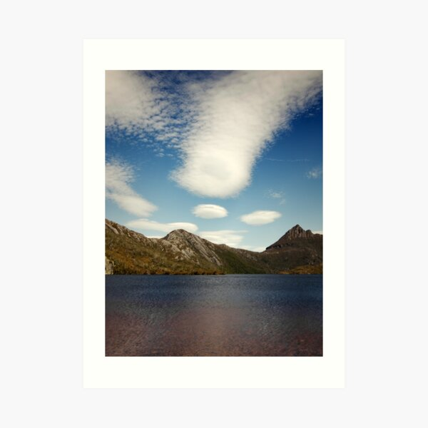 Cradle Mountain with Clouds Art Print