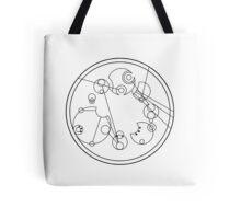 "Circular Gallifreyan: ""My other bag is bigger on the inside"" Tote Bag"