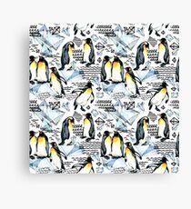 Emperor penguin watercolor illustration Canvas Print