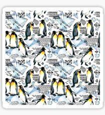 Emperor penguin watercolor illustration Sticker