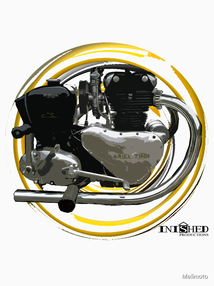 Inished Arial Twin 500cc engine art by Melimoto