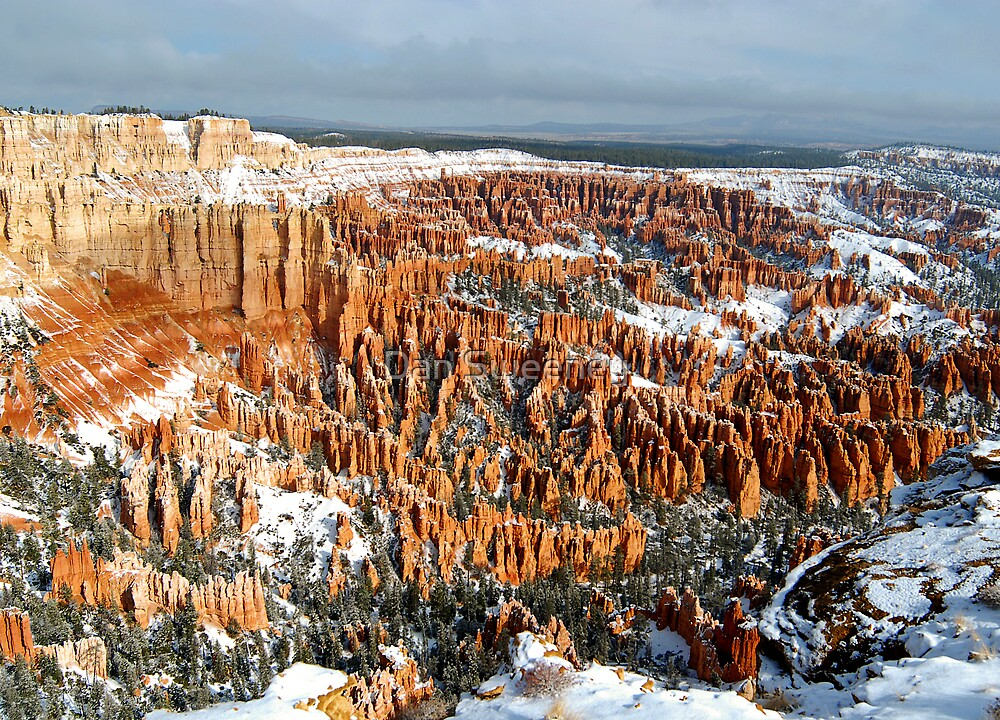 Snow on Bryce Amphitheater by Dan Sweeney