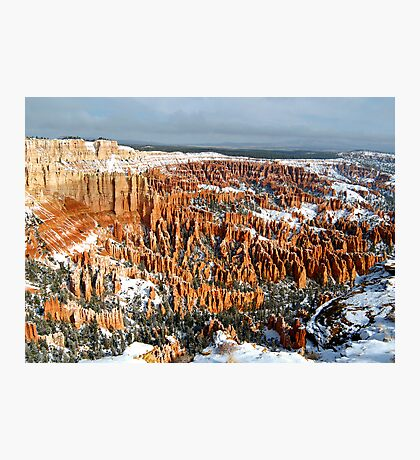 Snow on Bryce Amphitheater Photographic Print
