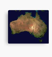 Australia continent aerial view geography Canvas Print