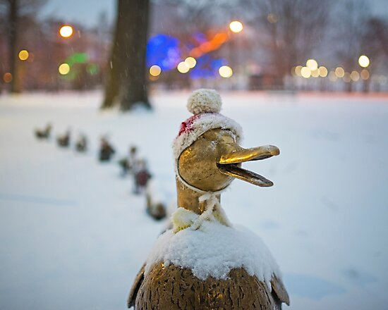 Make Way for Ducklings Winter Hats Boston Public Garden Christmas by WayneOxfordPh